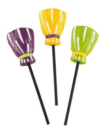 Halloween witch`s broom lollipop