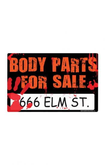 Blutiges Halloween Schild Body Parts