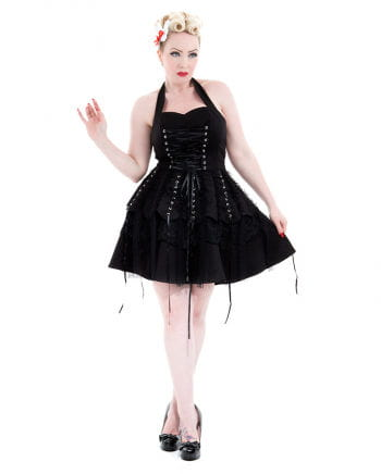 Hearts and Roses Gothic Halter Dress