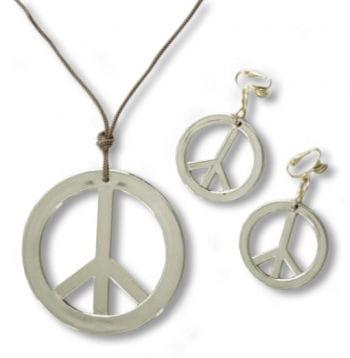 Peace Hippie Schmuck 3-teilig