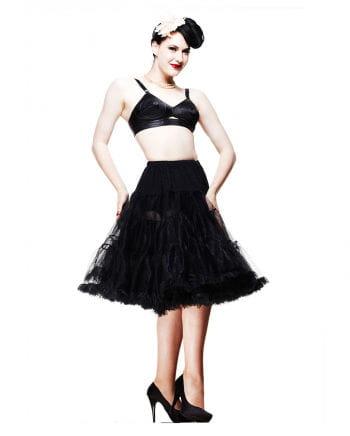 Schwarzer Petticoat Lang
