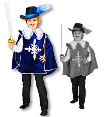 Kinder Musketier Umhang Samtoptik 116 German child size 116