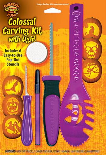 Pumpkin Carving Set with light