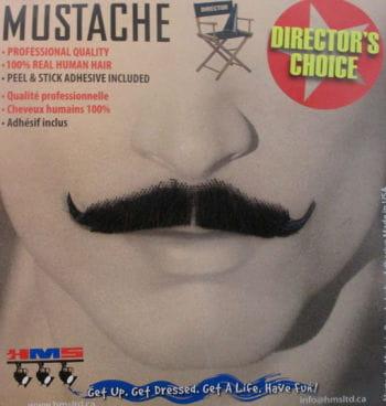 Real hair mustache black magician