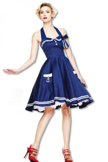 Matrosen Petticoatkleid blau