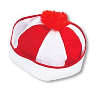 Bobby Matrosenmütze rot-weiß
