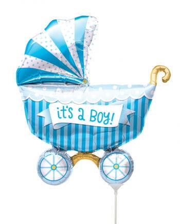 Mini-Folienballon Kinderwagen - It´s A Boy -
