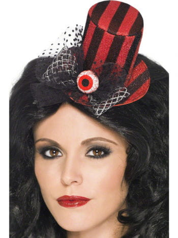 Mini Hat Black / Red with Eye
