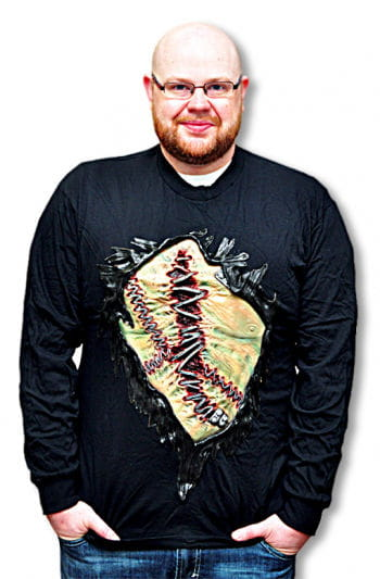 Monsterbrust Shirt mit Latex Applikation