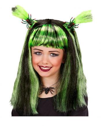 Halloween child wig green