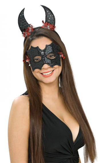 Bat eye mask with bat ears