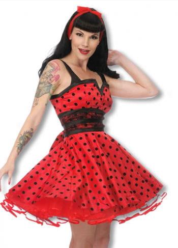 Petticoat Kleid mit Punkten schwarz-rot XL XL / 42