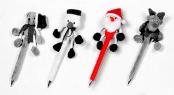 Plush Pen Santa