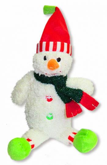 Plüsch Schneemann mit roter Mütze