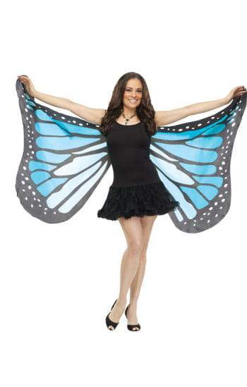 Huge butterfly wings blue