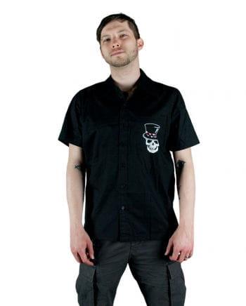 Rockabilly Männerhemd schwarz