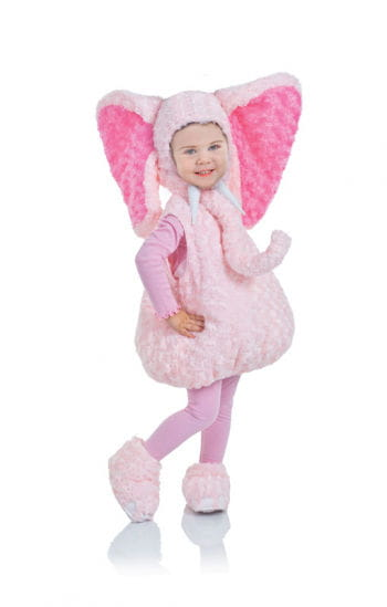 Pink Plush Elephant Child Costume