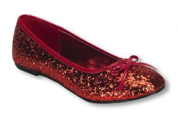 Rote Glitzer Ballerinas 40 40