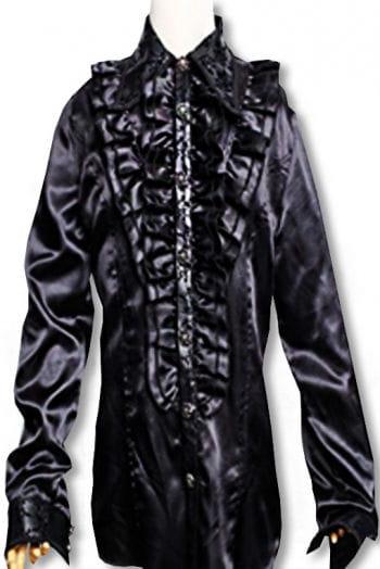 Ruffled shirt Baroque Black L