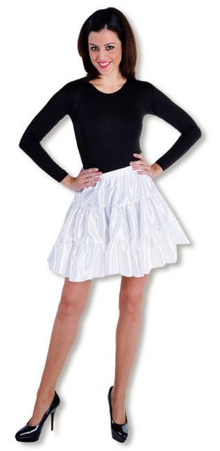 Satin Ruched Skirt white