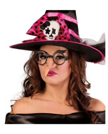 Joke glasses with witch nose