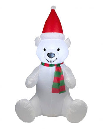 Christmas bear inflatable with LED 120cm