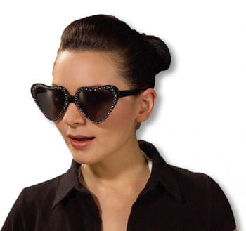 Black Heart sunglasses with glitter edge