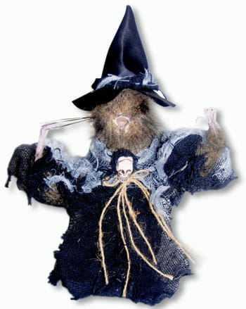 Black Witch Rat Standing Decoration Small 22 cm