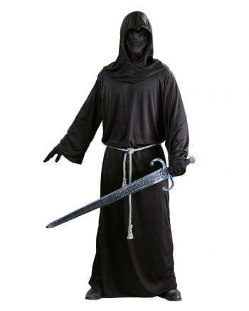 Black robe with hood cap