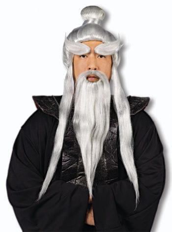 Sensei Perücke mit Bart