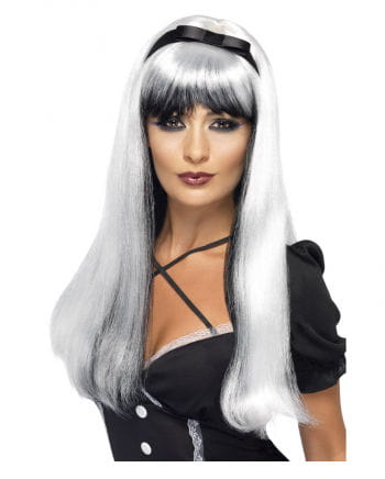 Cosplay Witch Wig silver / black