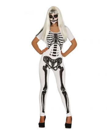 Skeleton Girl Damenkostüm Weiss