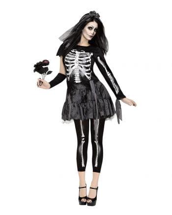 Skelett Braut Minikleid mit Schleier