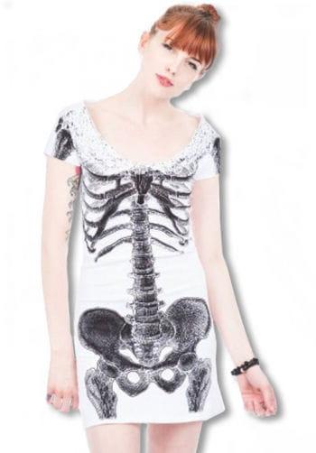 Skeleton shirt dress white
