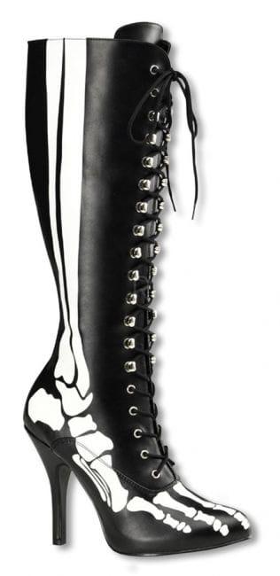 Skelett Stiefel mit Schnürung 38 38