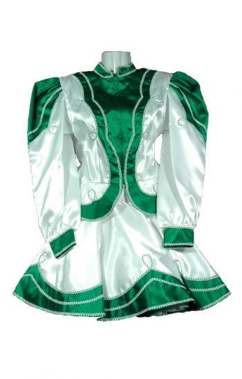Tanzmariechen Kostüm Premium grün/weiß