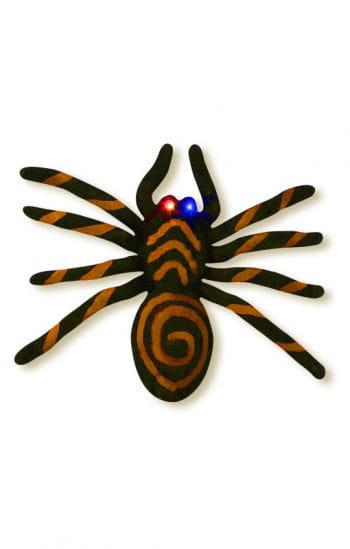 Orange Spinne mit blinkenden LED Augen