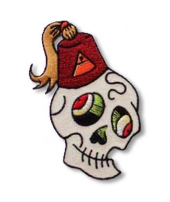 Skull Patch Skull Fezzy right