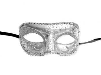Venezianische Augenmaske silber