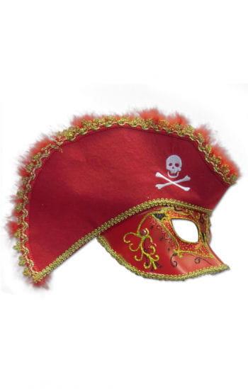 Venetian mask red pirates