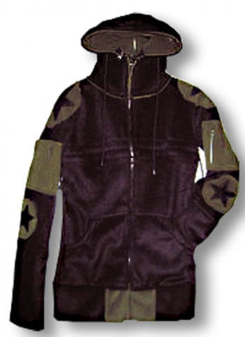 Convertible hooded fleece jacket ladies S / 36