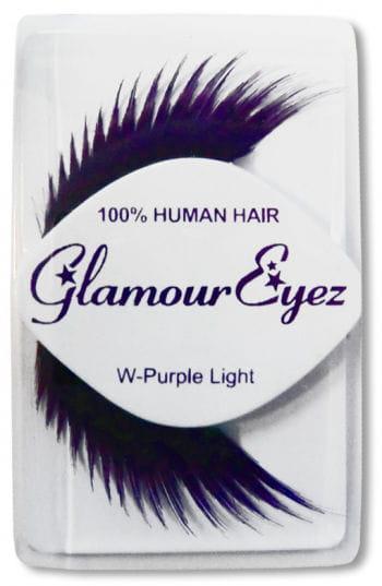 Human Hair Eyelashes Purple