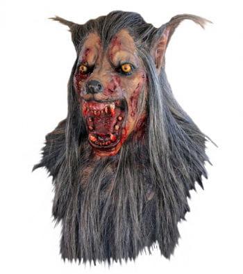 Wolf Maske Braun
