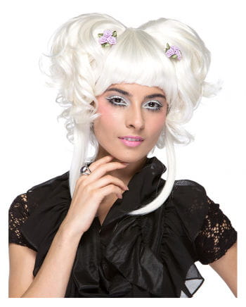 Damenperücke Yuki white