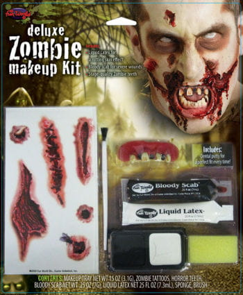 Zombie Makeup Kit Deluxe