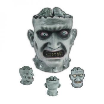 Zombiekopf Bonbonschüssel Animatronic