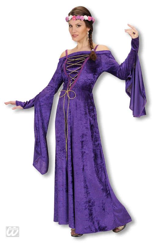 mittelalter burgfr ulein kost m violett historisches mittelalterkost m horror shop com. Black Bedroom Furniture Sets. Home Design Ideas