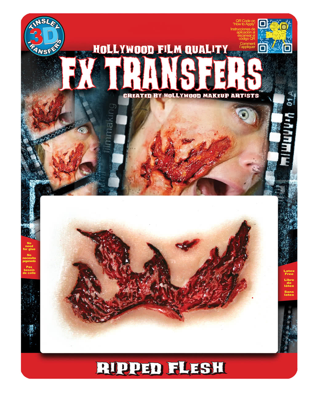 3d fx transfer tattoo large flesh wound special effects for Flesh wound tattoo