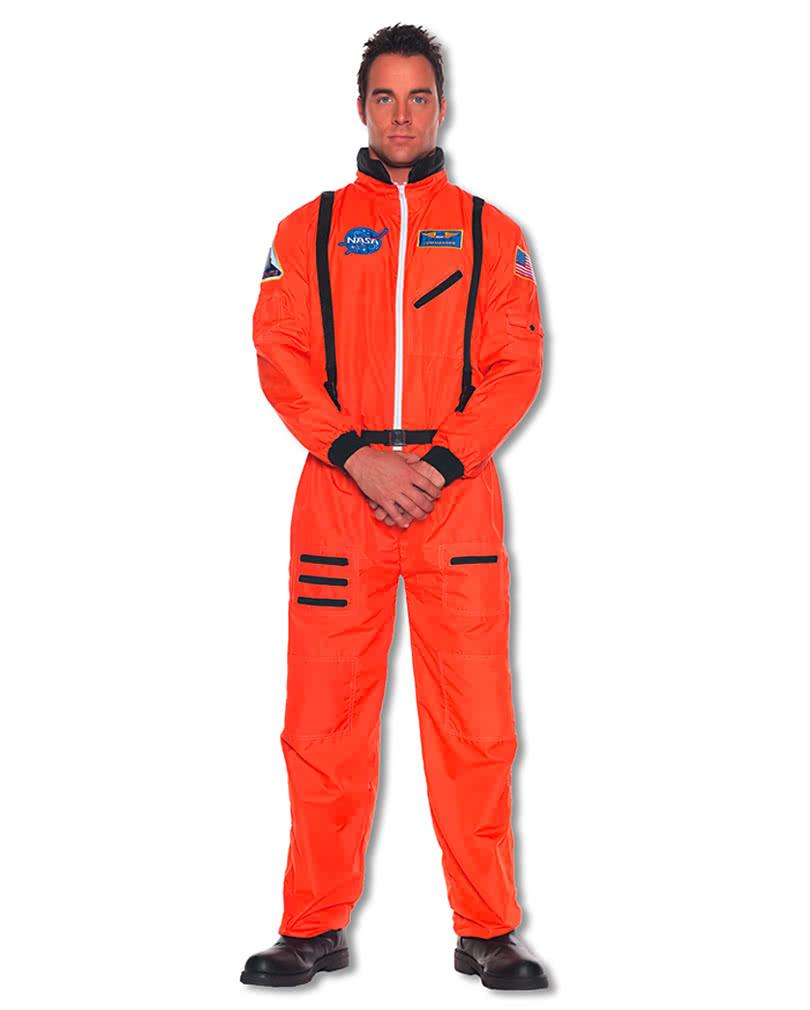 astronaut jumpsuit orange xxl spaceman kostm horror. Black Bedroom Furniture Sets. Home Design Ideas