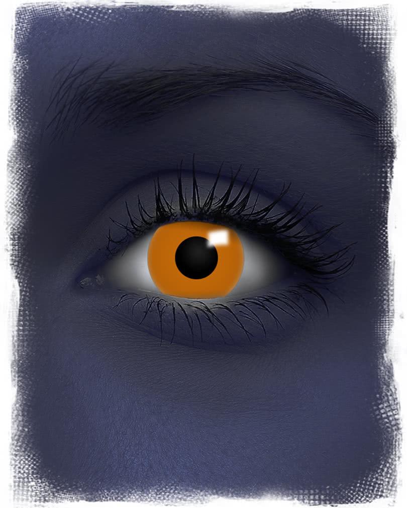uv kontaktlinsen orange neonfarbige uv motivlinse als. Black Bedroom Furniture Sets. Home Design Ideas